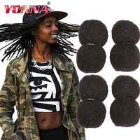 YONNA Tight Afro Kinky Bulk Human Hair 100% Human Hair For Dreadlocks,Twist Braids Human Hair Extensions 4pcs/lot,30g/pcs