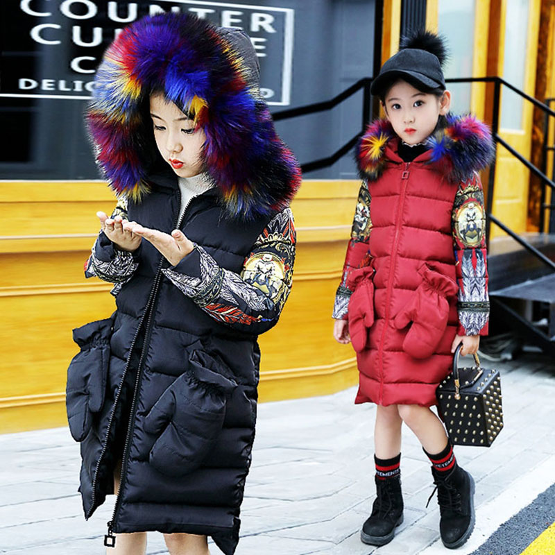 2017 Colourful Fur Hooded Jacket Cotton Thick Warm Clothing Autumn Winter Outerwear Fashion Toddler Kids Girl Clothes Jackets2017 Colourful Fur Hooded Jacket Cotton Thick Warm Clothing Autumn Winter Outerwear Fashion Toddler Kids Girl Clothes Jackets