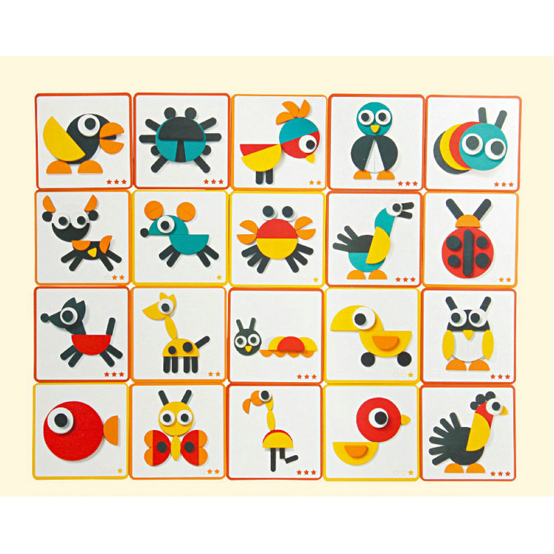 Free shipping Kids Montessori creative Cartoon animal puzzle Pattern puzzle Baby wooden toy Children Educational puzzle toys in Puzzles from Toys Hobbies