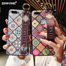 Fundas Lanyard Tassels Holder Stand Phone Case for iPhone 8 7 6s 6 Plus Silicone Wristband Cover Coque X XR XS Max Cases