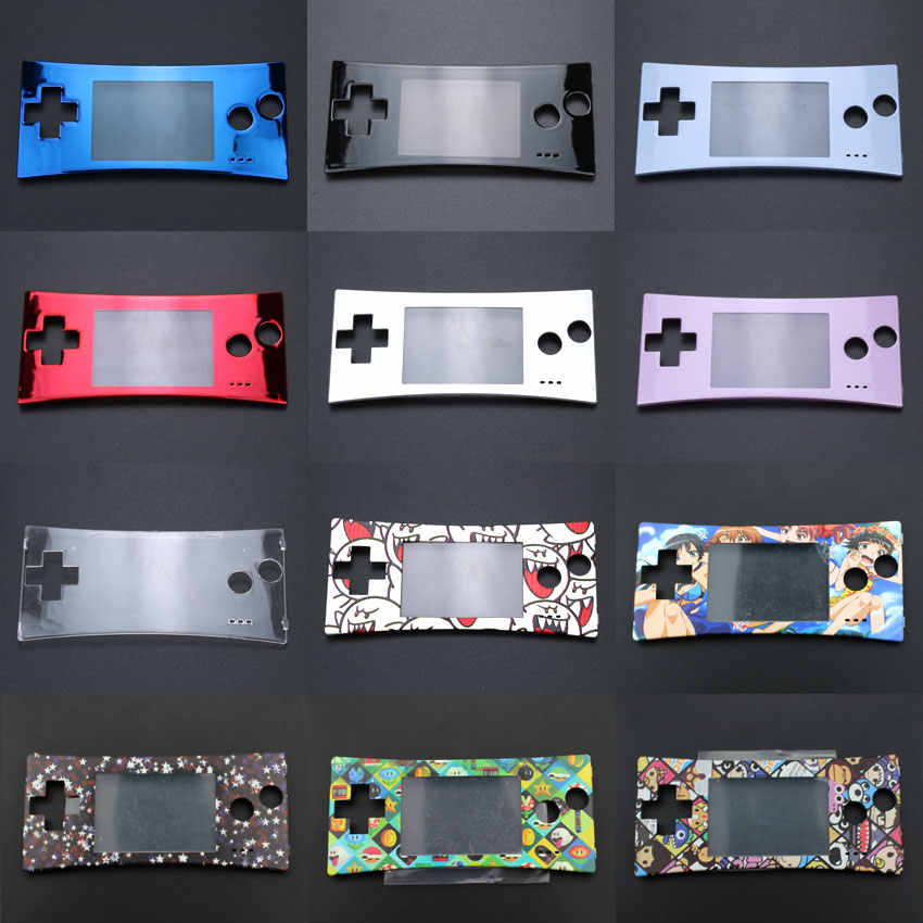 YuXi Front Faceplate Cover Replacement for GameBoy Micro for GBM Front Case Housing Repair Part