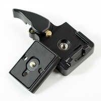 Adaptateur de serrage rapide SETTO 323 pour trépied de caméra avec plaque stabilisatrice Manfrotto 200PL-14 Compat BS88 HB88