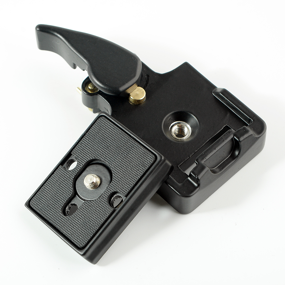 SETTO 323 Quick Release Clamp Adapter For Camera Tripod with Manfrotto 200PL-14 Compat Plate BS88 HB88 Stabilizer Plate