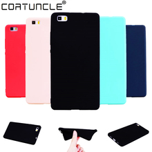 COATUNCLE TPU Soft Cases Huawei P8 lite Case Slim 360 Protect Candy Co