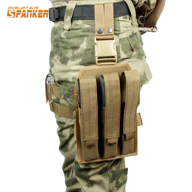 Platform Drop Leg Thigh Rig Holster KRISS Super V Submachine Gun MP7 Triple Magazine Pouch Molle Hunting Outdoor Airsoft CS Gear поло print bar книга джунглей