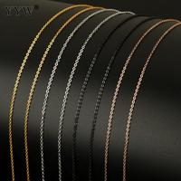 20 meter/Spool Metal Chain for Jewelry Making Stainless Steel Oval Chain Roll DIY Necklaces Bracelets for Men Women Jewelry