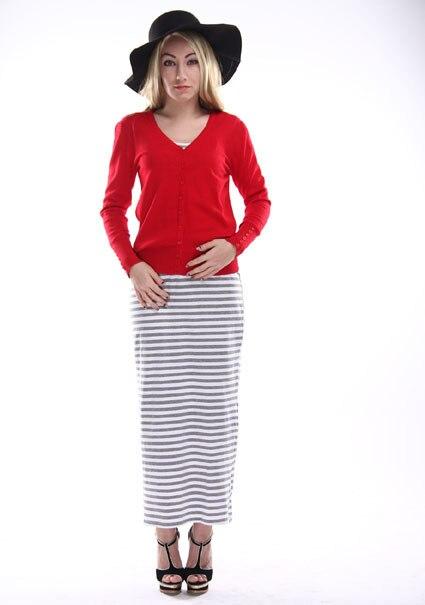 A Forever осень зима женские топы короткие вязаные свитера и пуловеры Свободная трикотажная одежда Повседневный свитер кардиган af816 - Цвет: Red