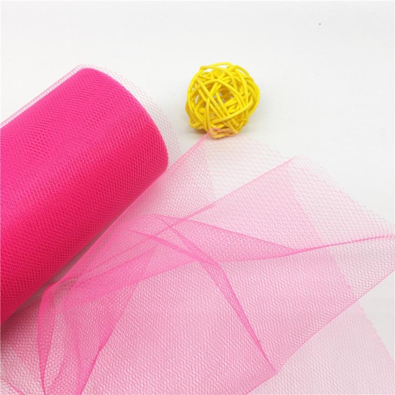 22M / lot Yarn Roll Crystal Tulle Organza Sheer Gauze Element Tutu - Տոնական պարագաներ - Լուսանկար 3