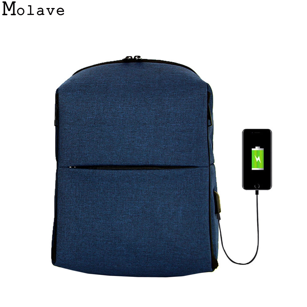 MOLAVE New Men Backpack For 15.6 inches Laptop Backpack Large Capacity Stundet Backpack Casual Style Bag Water Repellent DEC26 men backpack student school bag for teenager boys large capacity trip backpacks laptop backpack for 15 inches mochila masculina