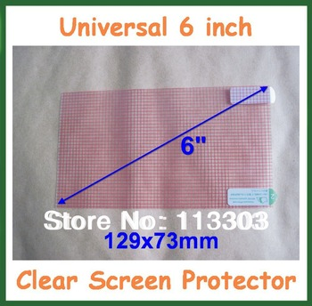 1000pcs Universal Clear Screen Protector 6 inch Protective Film Grid for Camera GPS MP4  Size 129x73mm Free Cutting