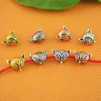 DIY 80Pcs Mxied Color Fox Bead For Charms Bracelet Jewelry Making