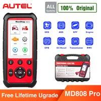 Autel MaxiDiag MD808 про все Системы OBD2 Авто сканер Бортовая Система диагностики 2 автомобиля диагностический сканер Eobd автомобильный сканирования