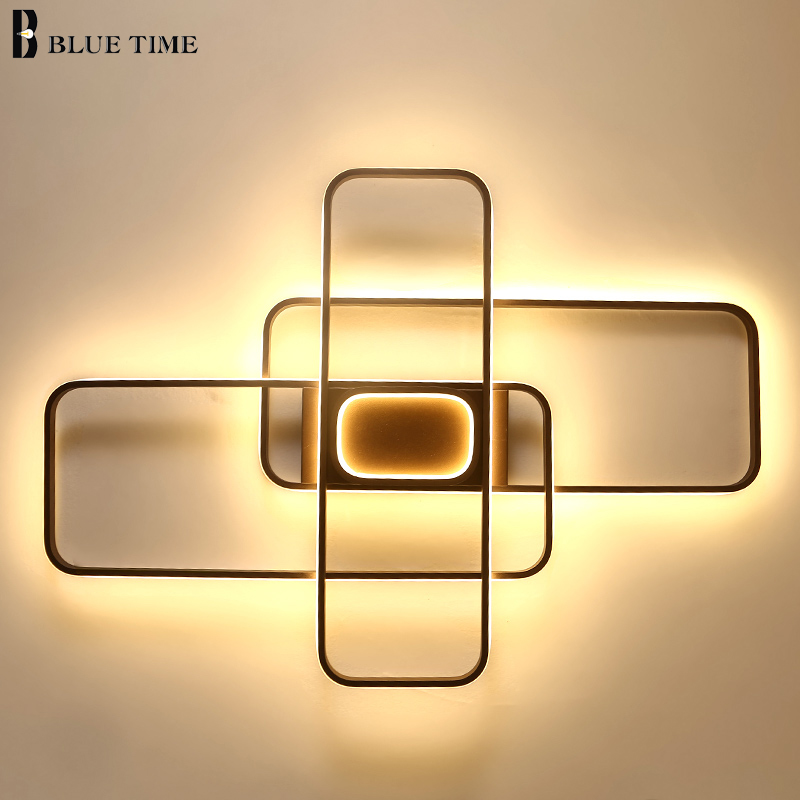 New Minimalist Modern Ceiling Lights led For Living Room Bedroom Cofee Color Home Indoor Ceiling Lamp