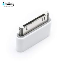 Żeński Micro USB do 30 pin męski złącze dla Apple iPhone 4 4S iPhone4S 3gs ipad 1 2 3 ipoda kabel ładujący Adapter akcesoria tanie tanio Ascromy for iphone 4 adapter iphone4S 30 pin 5v 1A 5V 2A for iphon iphone 4 adapter iphone4S IPHONE4 iphone4g cable Carregador