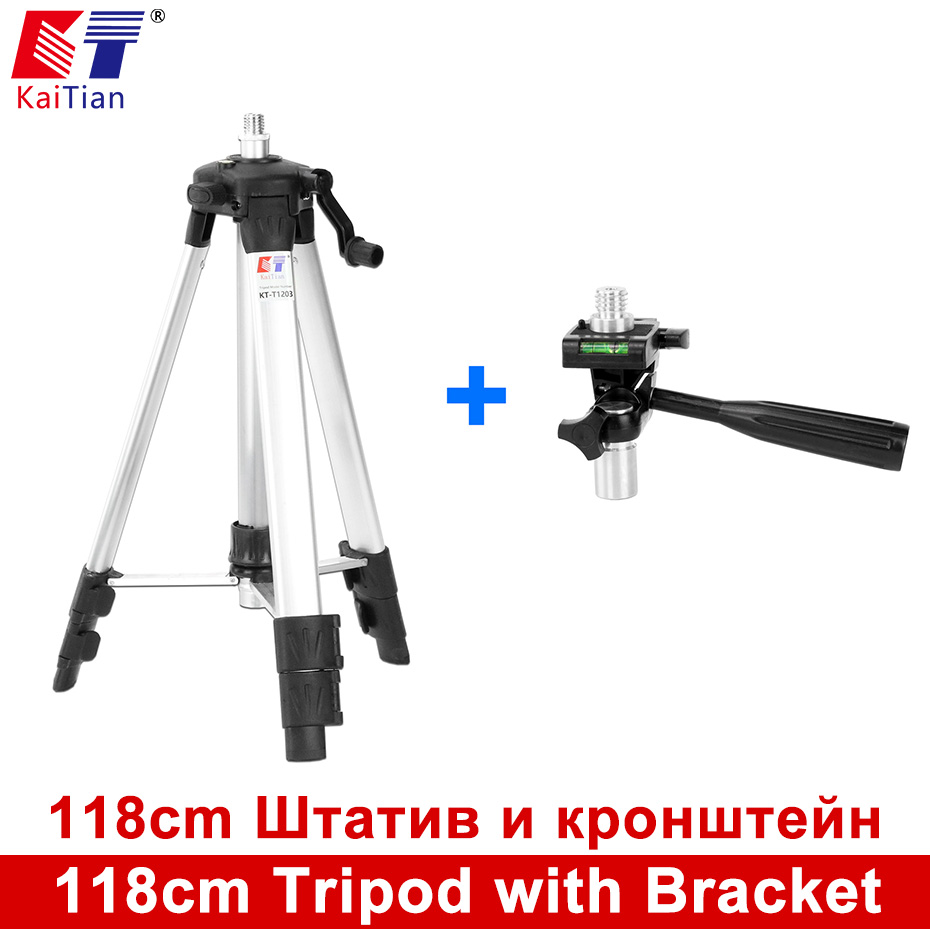 все цены на Kaitian Tripod for Laser Level 5/8 118cm Aluminium  Adjustable Leveling  Bubble Collapsible  360 Rotary Bracket Tripod for Level онлайн