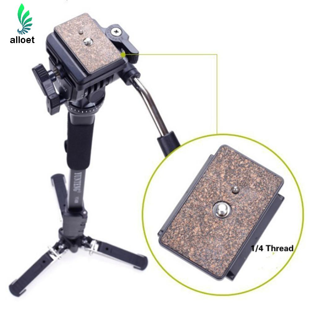 Professional Yunteng C288 Monopod Fluid Pan Head Ball DV Unipod Mobile Phone Clip Holder For Canon