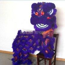 Новый детский костюм льва, высококачественный костюм для танцев льва, изготовленный из чистого искусственного льва, детский размер