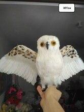 купить big lifelike owl model foam&furs wings simulation owl doll gift about 30x45cm xf0482 дешево