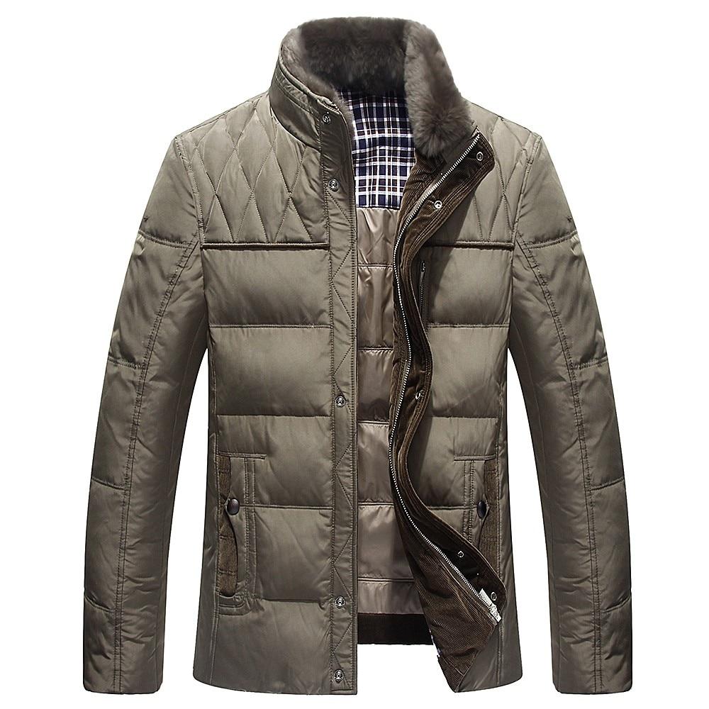 Duvet Canard Green Chaud M Fourrure De Manteau 3xl Épais Marque kaki Vestes Blanc Mode 2018 Hommes Col Bleu D'hiver Le army Bas Veste Hottes Parkas Vers zqSIERxx