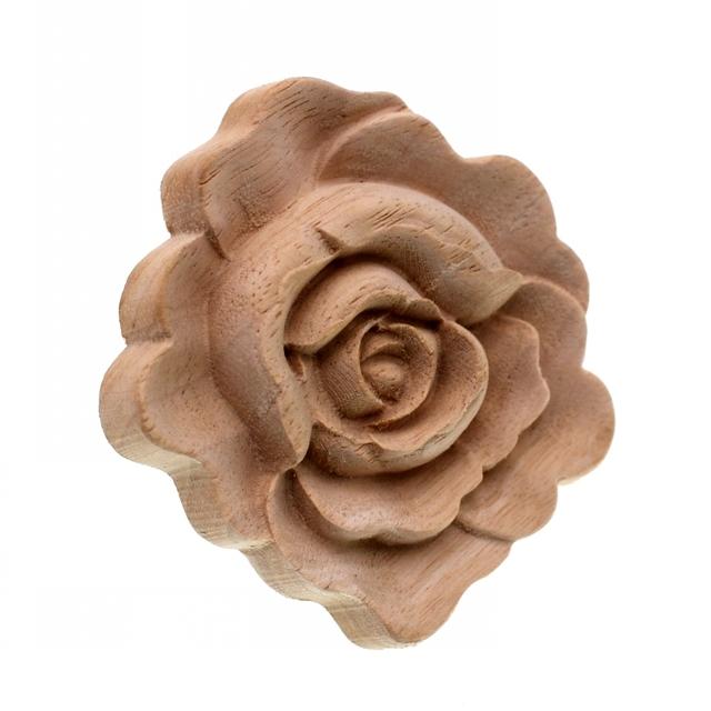 Rose Flower Shaped Wooden Ornament