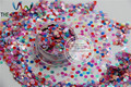 RG3-63 Mixed  Pearlescent Color Ultra Thin Solvent Resistant Circle Shape Glitter  for nail and DIY decoration   -Size : 3MM