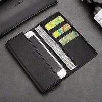 6 Universal Genuine Leather Wallet Case For IPhone X 8 5s 6 7 Plus Xiaomi Mi6