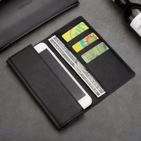 6 Universal Genuine Leather Wallet Case Phone Bag For IPhone X 8 5s 6 7 Plus
