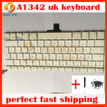 "new UK keyboard for macbook 13.3"" A1342 UK keyboard british keyboard English clavier without backlight backlit 2009 2010year"