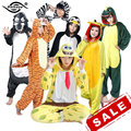YM Unisex Adult Flannel Hoodie Pajamas Sets Costume Cosplay Unicorn Totoro Minion Panda Cute Animal Onesies For Women Men PJ02