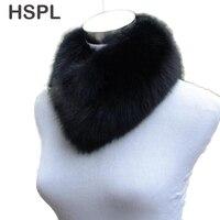 Hsplリアル毛皮のスカーフ卸売キツネの毛皮スカーフリングデザイン首ウォーマー用2017短い暖かい本物フォックス毛皮のネックウェアー