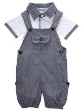 цена на 2pcs Newborn Babies boy Summer t-shirt+Bib Outfits Infant Kids Baby Boys Clothes Shirt T-shirt+Braces Pants Outfit Set 2019