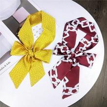 Spring and Summer Female Scarf Print Dot Professional White Collar Fashion Shoulder-length Hair Band Wrist Bag Ribbon