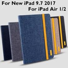 For iPad 9.7 2017 / 2018 Pro 9.7 Air 1 Air 2 Case Cover High Quality TPU+Cloth art Tablet Skin Protective Sleeve Wake up sleep