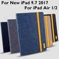 Para iPad 9,7 2018/9,7 Pro 2017 Air 1 Air 2 funda cubierta de alta calidad TPU + tela arte tableta piel funda protectora despertar/dormir