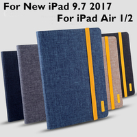 For Apple IPad Air 1 2 Case Cover Fashion Business High Quality TPU Cloth Art Protective