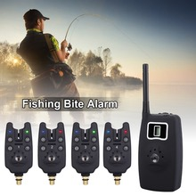 цены на JY-19 Wireless Fishing Bite Alarms Set Digital LED Pesca Indicator Adjustable Tone Volume Sensitivity Sound with Box  в интернет-магазинах