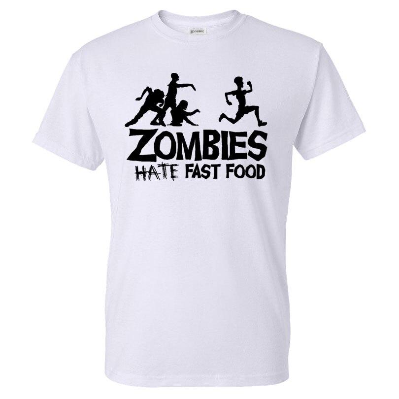 Summer Men T Shirts Zombies Funny Slogan Top Tees Glowing Swag Short Sleeve Cotton T-shirt O-Neck Casual Print Tshirt Plus Size Футболка