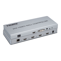 2x2 HDMI Video Wall Controller 1080P Video Wall Processor HDMI/DVI input support 7 splicing modes 1x1 1x2 1x4 2x2 2x1 3x1 4x1