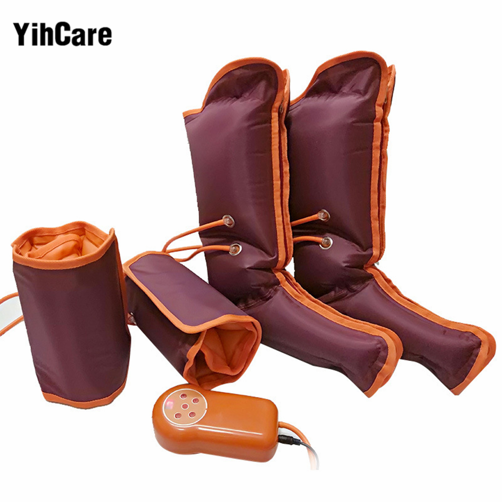 YihCare Elderly Pneumatic Leg Massage Friction Foot Massage Electrical Air Pressure Wave Physical Therapy Massage Relieve Muscle full leg and foot massage air pressure leg massage machine vending shiatsu foot and air compression leg massager for sale
