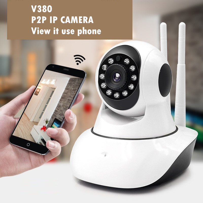 wireless ip camera surveillance video recorder system wifi pt audio support sd card for home. Black Bedroom Furniture Sets. Home Design Ideas