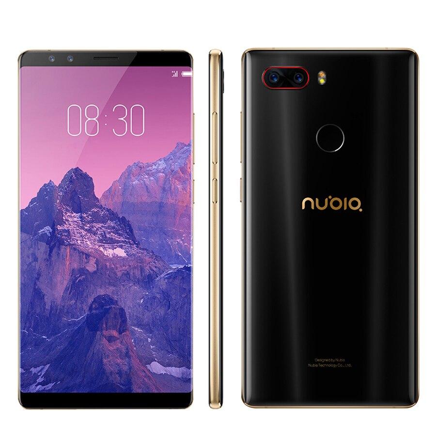 2017 Original Novo ZTE Nubia Z17S z17 Mobile Phone Com 4 câmeras 2040x1080 Full Screen 8 GB RAM 128 GB ROM Telefone Snapdragon 835