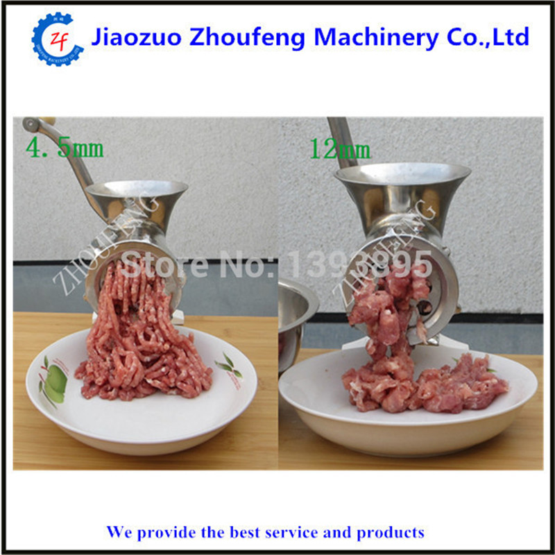Small manual operate meat mincing machine price stainless steel meat grinder cheappest small household meat mincing machine wholesale
