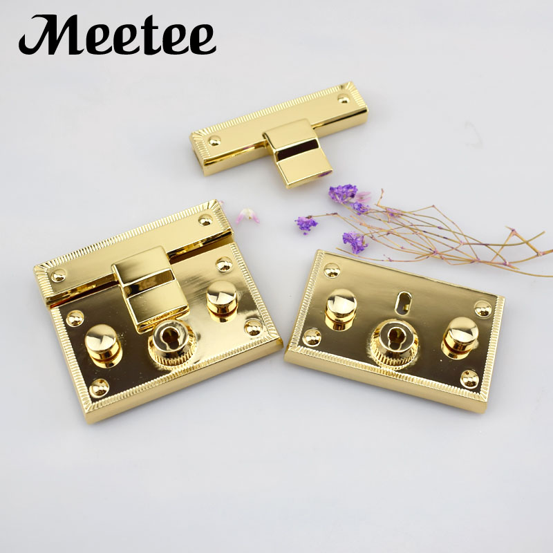 Luggage & Bags High Quality 1 Pc Bag Buckles Women Handbag Diy Craft Replacement Making Metal Push Lock Briefcase Lock Hardware Accessories New