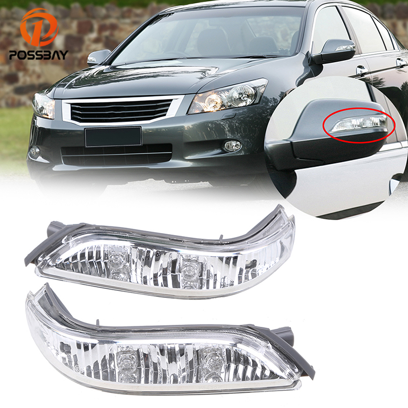 POSSBAY Rearview Mirror Lamp For 2005 2006 2007 2008 2009