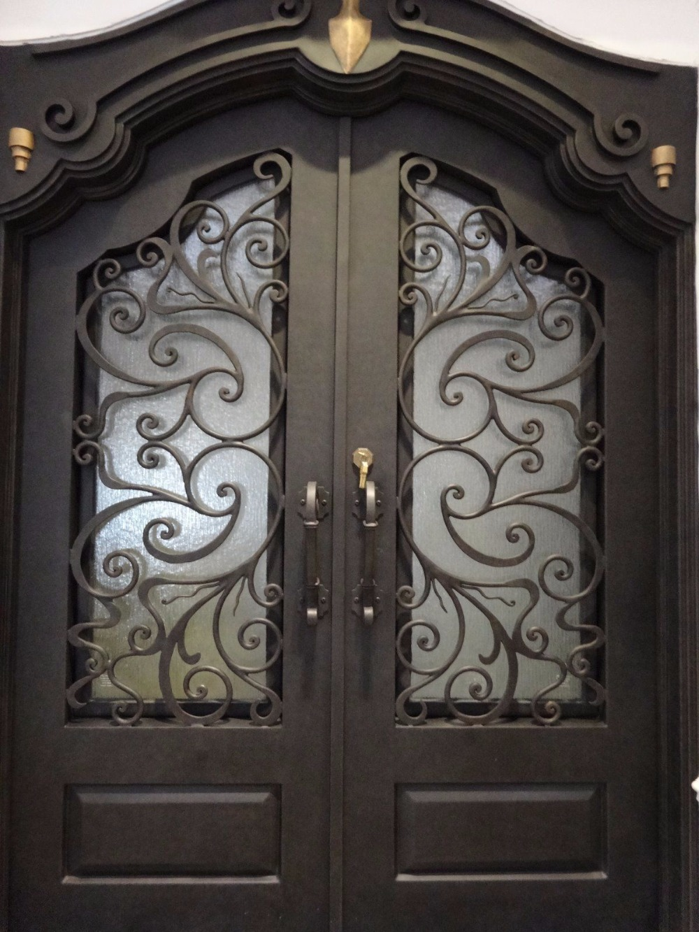 Front Doors With Wrought Iron Inserts  Iron Main Door