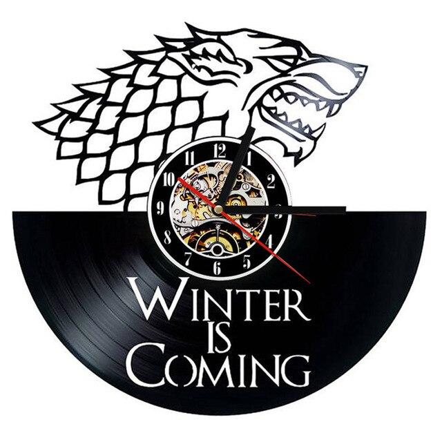 """Game of Thrones"" Vinyl Wall Clock  4"