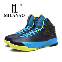 MILANAO 2017 New Men Basketball Shoes High Top Sneakers Breathable Sport Athletic Sports Anti Slip Outdoor
