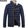 Mountainskin chaquetas térmicas de invierno de los nuevos hombres de algodón hombres del collar del soporte parkas sólidos gruesos masculinos abrigos casual brand clothing sa025