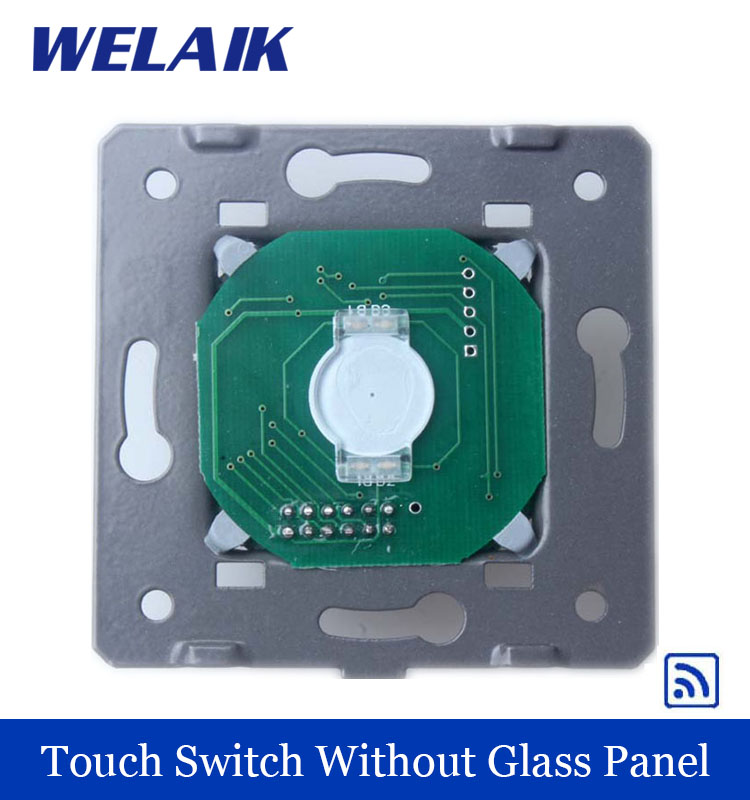 WELAIK  White Wall Switch EU Remote Control Touch Switch DIY Parts Screen Wall Light Switch 1gang1way AC110~250V A913 welaik crystal glass panel switch white wall switch eu remote control touch switch light switch 1gang2way ac110 250v a1914xw b