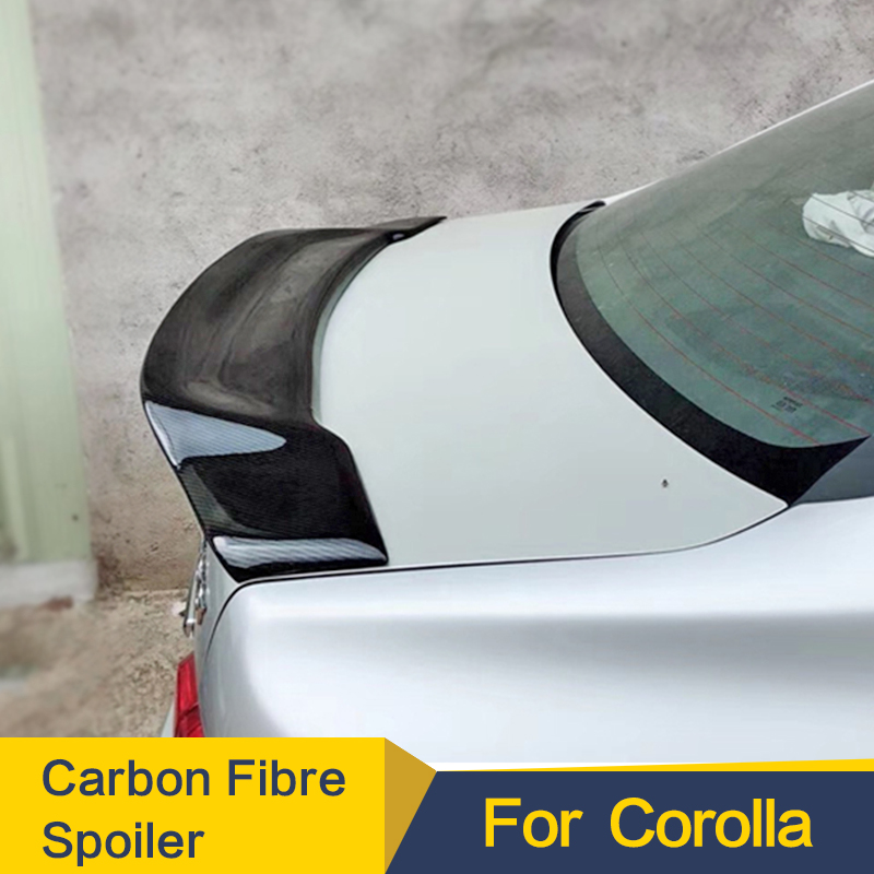 Rear Wing <font><b>Spoiler</b></font> Use For <font><b>Toyota</b></font> <font><b>Corolla</b></font> Carbon Fiber Rear Trunk Lid Car Sport <font><b>Spoilers</b></font> Wing For <font><b>Corolla</b></font> 2006-2013 2014-2017 image